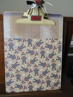Sock Monkey Decorative Clipboard by SheriChic on Etsy, $14.00