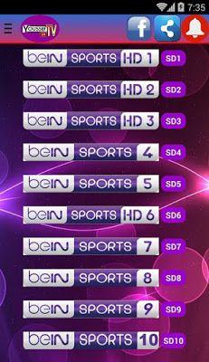 تطبيق Youssef Live TV لتشغيل و مشاهدة قنوات beIN Sports Free Online Tv Channels, Live Tv Free, Sports Channel, Sporting Live, Liverpool Football Club, Electronics Projects, Smart Tv, Cricket Streaming, Mac