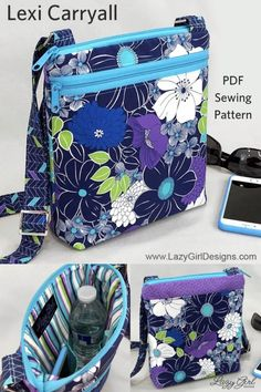 Make The Perfect Crossbody Bag Make The Perfect Crossbody Bag,DIY NÄHEN Stay safe and organized on the go with this Lexi Carryall cross-body bag sewing pattern. Carry all you really need and keep your. Bag Sewing Pattern, Bag Patterns To Sew, Sewing Patterns Free, Free Sewing, Quilted Purse Patterns, Crochet Quilt Pattern, Messenger Bag Patterns, Corset Pattern, Handbag Patterns