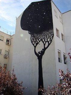 Stars Sky Tree Graffiti