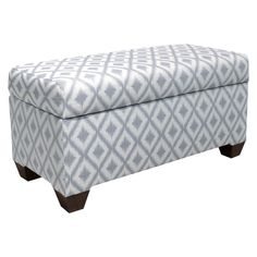 Add extra storage and comfy seating to any area of your home with the Skyline Furniture Aiden Storage Bench. With enough space to store linens or blankets, it keeps you organized and clutter-free while the padded top provides a great place to sit. Wood Storage Bench, Upholstered Storage Bench, Bedroom Storage, Tufted Ottoman, Upholstered Furniture, Furniture Legs, Home Furniture, Bedroom Furniture, Creative