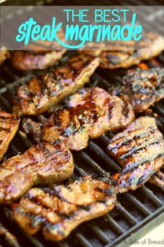 The Absolute BEST Steak Marinade~ from the ladies at Butter With A Side of Bread #recipe #steak