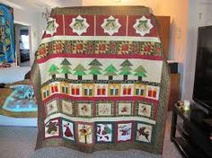 Image result for Christmas row by row quilts