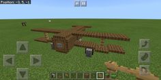 Here's a little biplane a made out of trapdoors. I know the wings are slightly different but I tried to make it the same - Minecraft Minecraft Mansion, Cute Minecraft Houses, Minecraft City, Minecraft Room, Minecraft Plans, Minecraft Construction, Amazing Minecraft, Minecraft Tutorial, Minecraft Blueprints
