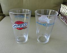 Bud Light Cleveland Cavaliers Logo Bar Glasses Set of Two