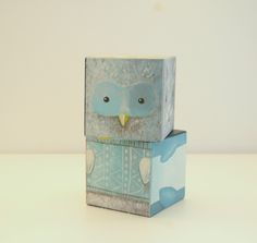 designer toy hand painted puzzle owl christmas