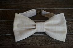 Light Tan and White Bow Tie Boys Bow Tie Baby and by BrileyBean, $10.00