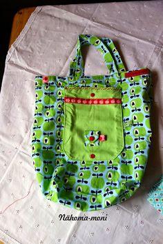 Naehoma - moni: Einkaufstasche, faltbar 12 Taschen 12 Monate 2015 Jänner