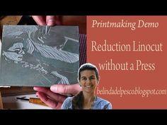 Reduction Linocut - 6-color print demo - Belinda DelPesco on YouTube Block Printing Relief Print