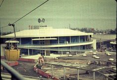 The Carousel of Progress under construction.