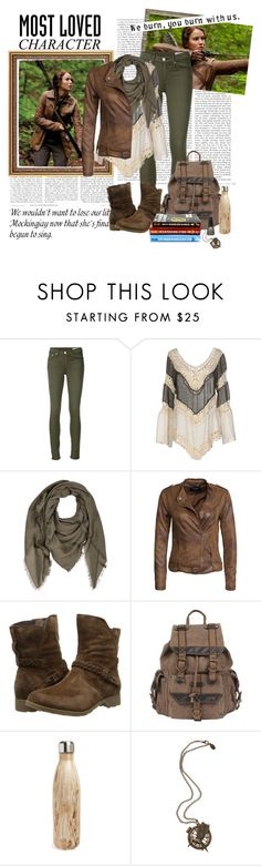 """""""Most Loved Character: Katniss Everdeen"""" by bri-love ❤ liked on Polyvore featuring Mr Perswall, rag & bone/JEAN, Care Of You, Comptoir Des Cotonniers, VILA, Teva, Wilsons Leather, S'well and MostLovedCharacter"""