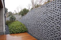 A map of the best contemporary landscape architecture projects from around the world. Landscape Walls, Landscape Architecture, Landscape Design, Garden Design, Trellis Fence, Hillside Garden, Brick Design, Entry Gates, Brick Patterns