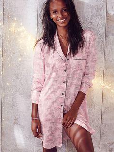 Afterhours Satin Sleepshirt in Unwrap A Secret . Victoria's Secret