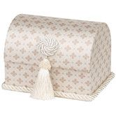 Found it at Wayfair - Lumina Envelope Chest with Button Knot, Tassel and Cord, Lined