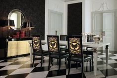 VERSACE HOME Australia Obelisco Chair #versace #versacehome #palazzocollezioni #chair
