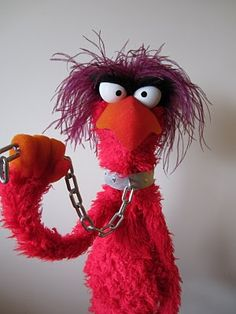 jarrod boutcher puppets: RED MONSTER (this puppet looks like Animals' and Sam Eagles' weird love child)