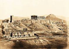 View of the Acropolis, ca. 1865 (corrected date) | View of t… | Flickr