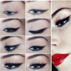 Learn how to do a precise cat eye with this detailed pictorial. See the essentials you will need to recreate this day to night look here.