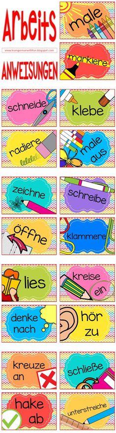 Arbeitsanweisungen für die Grundschule
