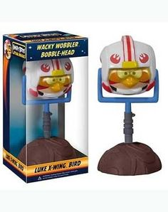 Angry Birds SW Luke X-Wing Bird Wacky Wobbler BobbleHead Doll Funko Star Wars