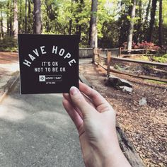 The path to HOPE.  #HopeForTheDay #HaveHope