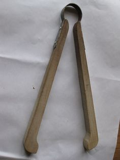 Vintage wooden twin tub tongues used by mum with her twin tub!