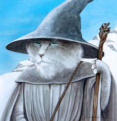 Susan Herbert (English, born 1945) Gandalf The Grey And White