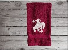 Terry hand towel with embroidered bronc and rider wonderful gift to have with the horse tack. Borgmanns Creations Rodeo Decorations, Rustic Home Interiors, Embroidered Towels, Gifts For Horse Lovers, Family Events, Farmhouse Kitchen Decor, Horse Tack, Love Gifts, Hand Towels