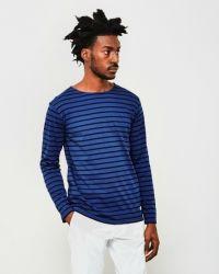 Armor Lux Lightweight Long Sleeve T-Shirt Blue & Navy Hoodies, Sweatshirts, Men Sweater, Long Sleeve, Mens Tops, Navy, T Shirt, How To Wear, Jackets