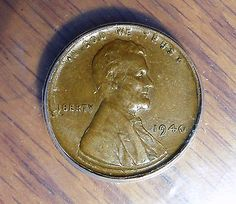 1940 1c Extremely Rare Wheat Cent TRIPLE STRUCK IN COLLAR Multiple Error Coin