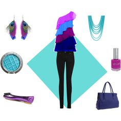 Blue and Purple Outfit, created by ktmariew.polyvore.com