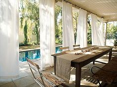 Outdoor Drape For Backside Of Hot Tub | Outside The Door | Pinterest | Outdoor  Drapes, Hot Tubs And Tubs