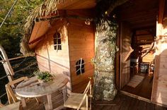 You can stay as high as 72 feet off the ground in one of these bungalows which can be accessible by ... - La Cabane en l'Air / Facebook