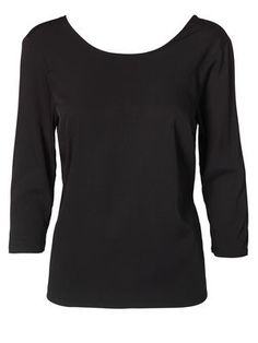 WP - STRIPY KAMILLE 3/4 TOP, BLACK Polyester