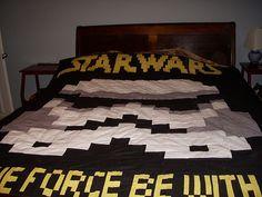 when he's older... star wars quilt idea.