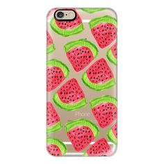 iPhone 6 Plus/6/5/5s/5c Case - Watermelon ($40) ❤ liked on Polyvore featuring accessories, tech accessories, phone cases, phones, cases, electronics, iphone case, iphone cover case and apple iphone cases