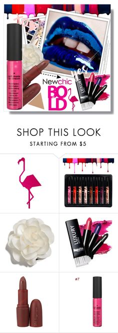 """NEWCHIC Beauty Products"" by anastasia-ana ❤ liked on Polyvore featuring beauty, Cara, LIPSTICK, makeup, lipgloss, matte and newchic"