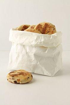 White washable paper bag