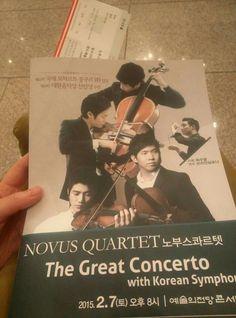 노부스콰르텟 The Great Concerto 예술의전당 콘서트홀 20150207