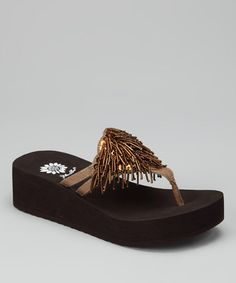 Take a look at this Bronze Sondra Platform Sandal by Yellow Box Shoes on #zulily today!