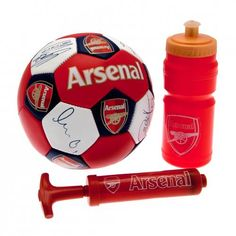 Football Gift Set Size 3 Nuskin Ball Water Bottle Pump In A Gift Box Official Licensed Product Product model: Switzerland Football, Arsenal Images, Old Logo, English Premier League, Team Wear, Arsenal Fc, Sports Equipment, Soccer Ball, Uk Football