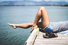 Lazing about on a dock. Tumblr