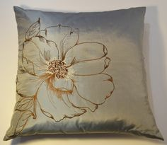 CUSHION 100% EMBRODERY BLUE 70x70 via DARAM COLLIN DESIGN. Click on the image to see more!