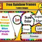 Free Rainbow Frame Clip Art Set from Charlotte's Clips in appreciation of the wonderful teachers and sellers at TPT.    Includes:  Frame  Bunting   Circ...