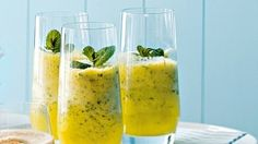 Pineapple And Mint Frappe Recipe Summer Drink Recipes, Summer Drinks, Fun Drinks, Healthy Drinks, Cocktail Recipes, Mint Recipes, Healthy Tips, Free Recipes, Healthy Food