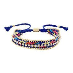 Bling BFF Bracelet by Ettika ($45) ❤ liked on Polyvore featuring jewelry, bracelets, adjustable bangle, blue bangles, ettika jewelry, rainbow jewelry and blue jewelry