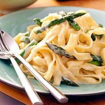 Weight watchers: Spring Asparagus and Lemon Fettuccine
