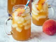 Peach Tea Punch Maybe if I used an herb or fruit tea (no real tea)