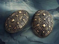 Viking tortoise (oval) brooches, bronze - replica, type P37