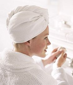 Aquis Microfiber Hair Turban - a wonderful self-securing towel that dries hair faster, reduces the risk of split ends and is very gentle on hair. Dry Curly Hair, Curly Hair Tips, Hair A, Your Hair, Curly Hair Styles, Hair Turban, Blow Dry, Hair Journey, Hair Today